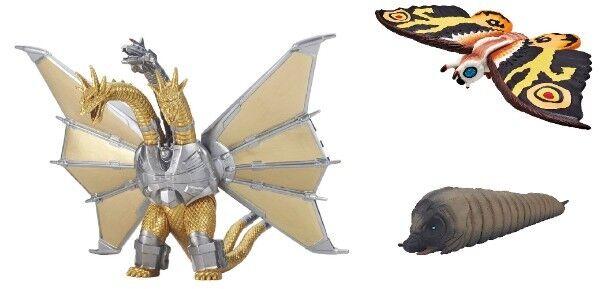 Nuevo Bandai Película Montruo Serie Mecha Rey Ghidorah & Mothra (Larva) (Adulto)