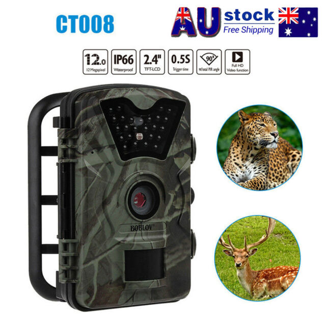 1080P Trail Wildlife Hunting Camera Night Vision Cam Farm Camera Waterproof AU