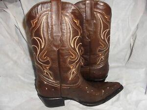 en en pour Uk femmes Bottes 40 Vgc mollet marron cuir mi taille 7 marron cowboy cuir tSS8gqwp