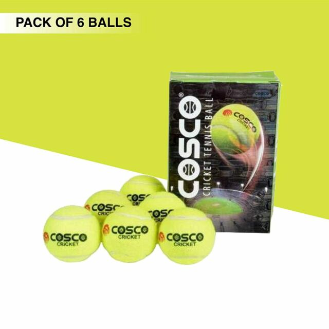 Cosco Light Cricket Tennis Ball, Pack of 6, Fast shipping