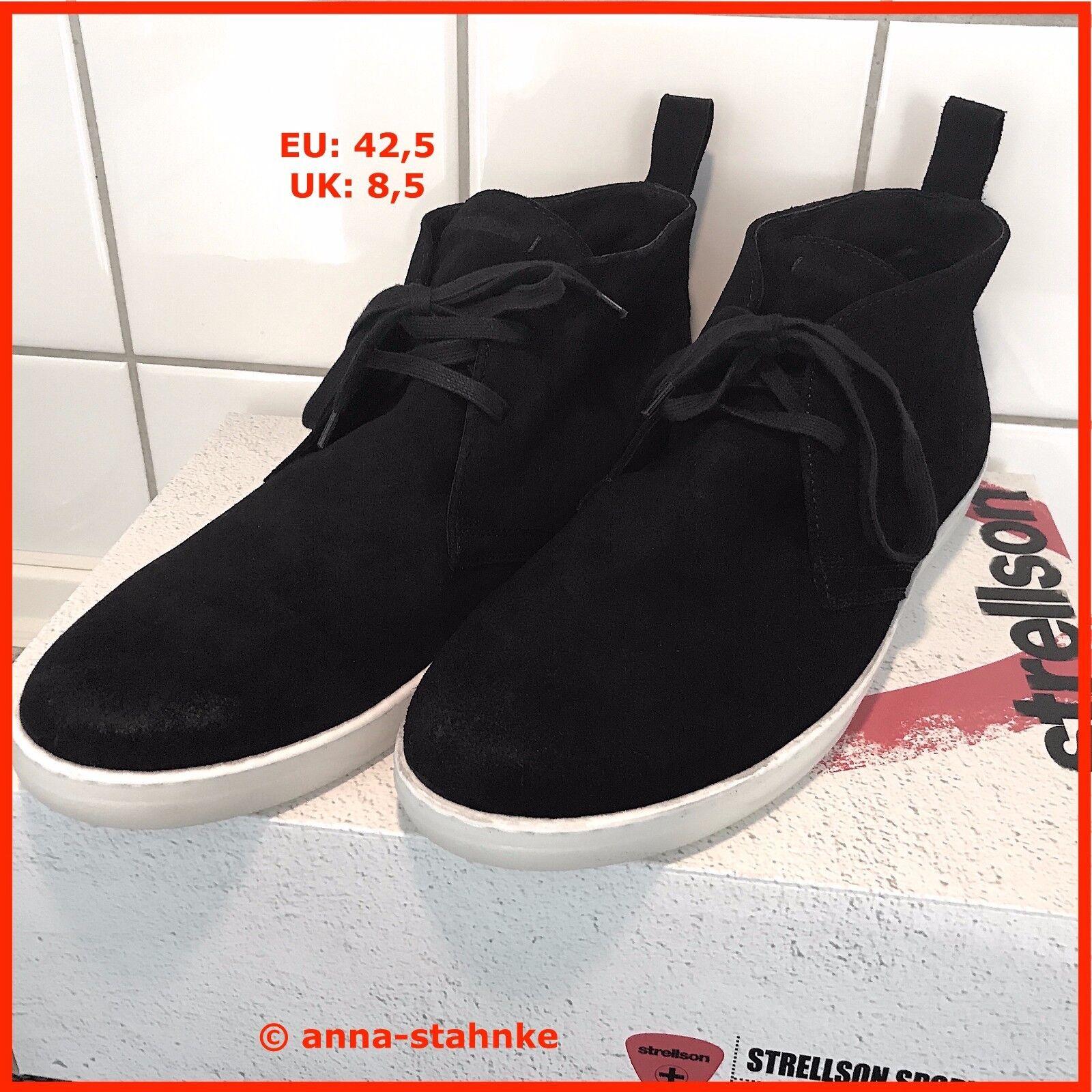 the latest 870a2 e7fc6 STRELLSON SCHUHE HERREN MEN END SNEAKER BOOTS BLACK & WHITE ...