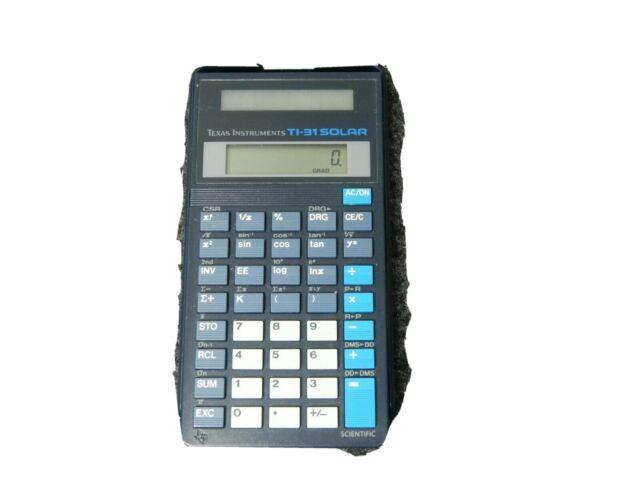 Texas Instruments Ti 31 Solar