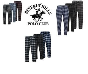 Beverly-Hills-Polo-Men-039-s-Cotton-Flannel-Comfortable-Plaid-Pajama-Pants-Lounge