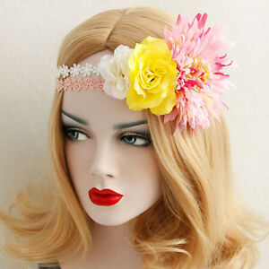 Boho wedding pink white flower crown hair garland lace bridal image is loading boho wedding pink white flower crown hair garland mightylinksfo