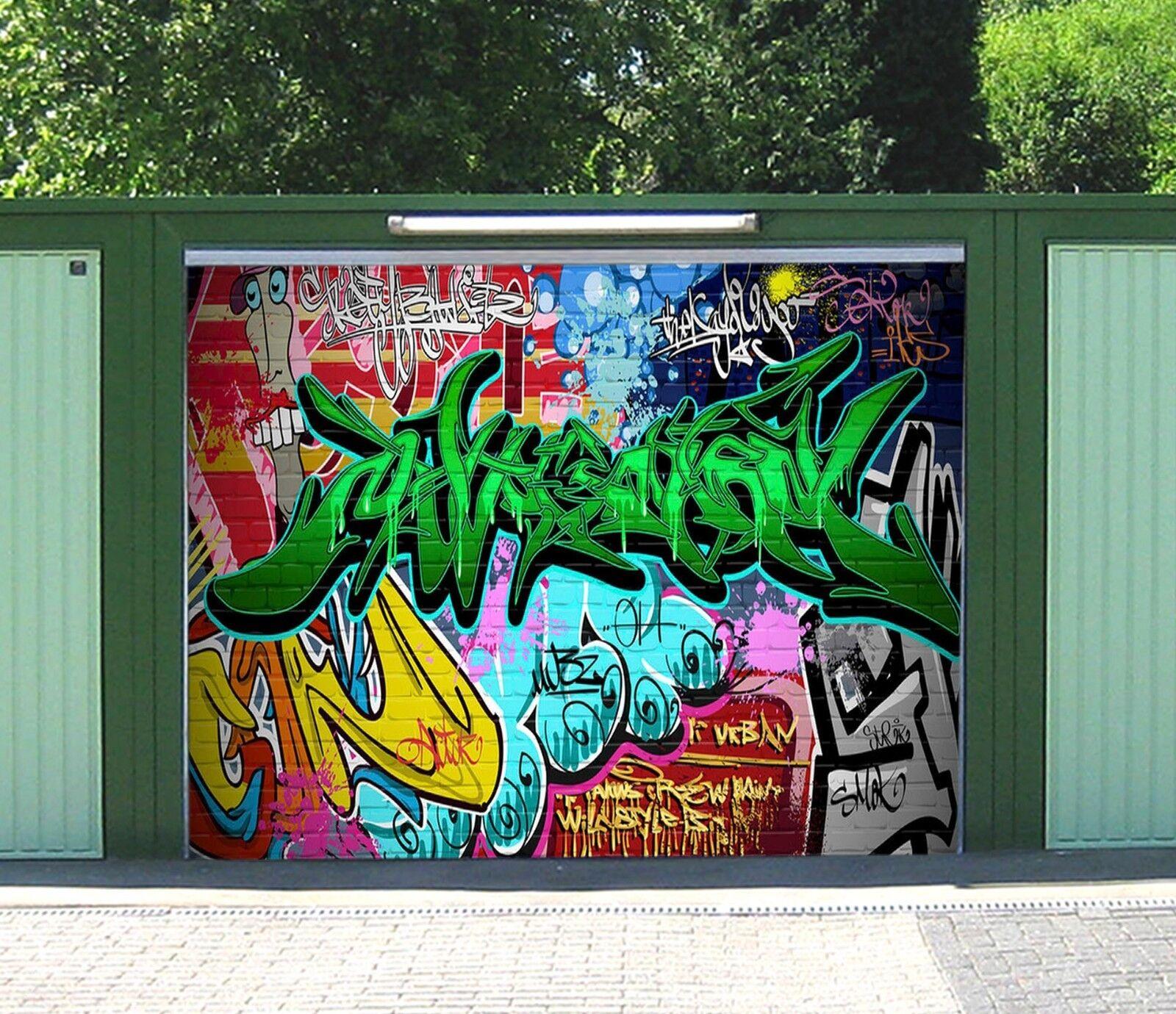 3D Charm color 73 Garage Door Murals Wall Print Decal Wall AJ WALLPAPER UK Carly
