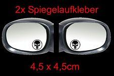 2x the Punisher Spiegel Auto Aufkleber Sticker 4,5cm x 4,5cm Fun Tankdeckel Kopf