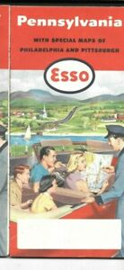 1954-ESSO-OIL-PENNSYLVANIA-ROAD-MAP