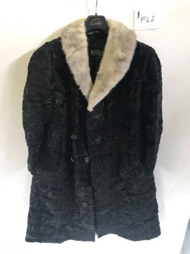 aisselle fourrure longueur cm 4 femme vintage Veste en noire pour aisselle 58 RqE6Ywp