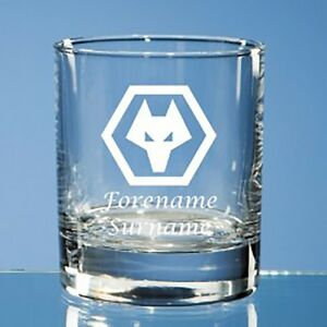 Wolverhampton Wanderers F.C - Personalised Old Fashioned Whisky Tumbler (CREST)