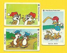 Chip n Dale Donald Duck Hockey Vintage 1970s Walt Disney Cards from Sweden