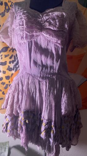 Vintage Gunne Sax Style Ruffle Dress, Fairy One Of