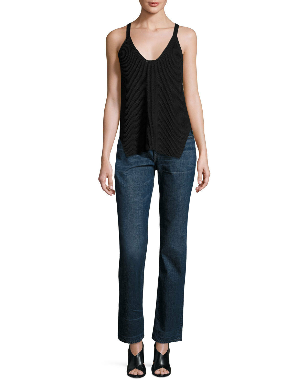 NWT HELMUT LANG Dark bluee 100% Cotton BOYFRIEND Faded Denim Jeans 26