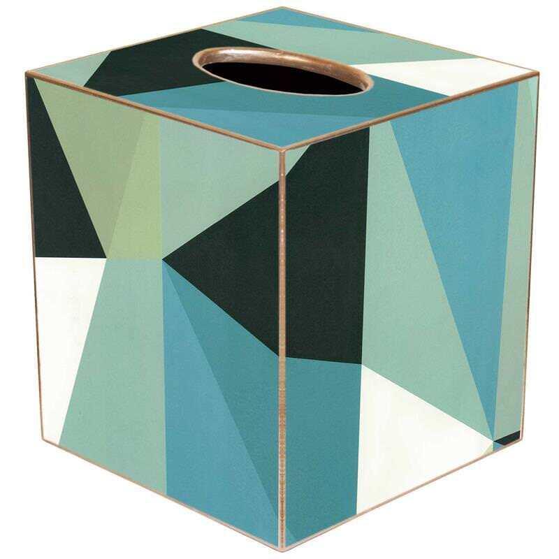 Tissue Box Cover Square Bathroom Accessories Dispenser Holder Italian Geometric