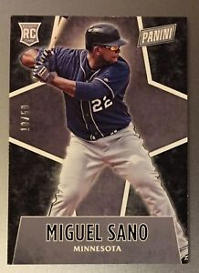 Miguel-Sano-2016-Panini-Black-Friday-Thick-Stock-Promo-Rookie-d-10-50-Twins-RC