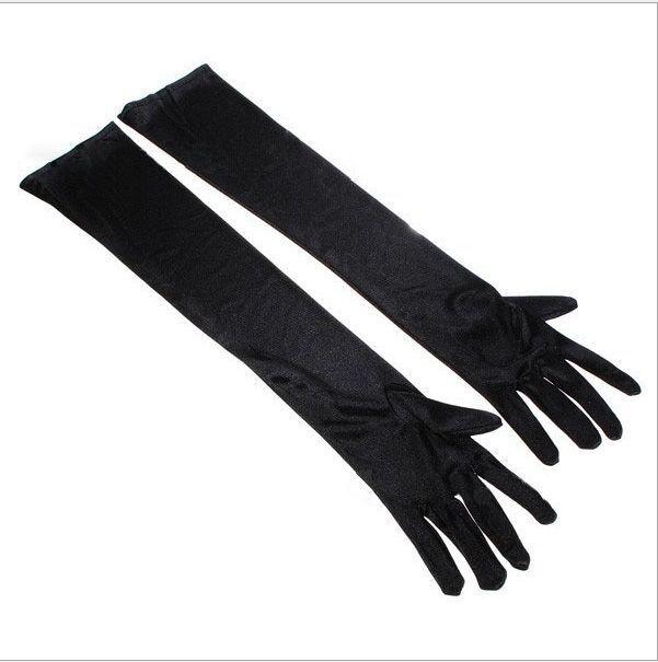 Ladies Long Elbow Evening Gloves Flapper 20s Fancy Dress Prom Opera Burlesque