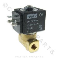 "PARKER VE-146 TWO WAY WATER SOLENOID VALVE 220-230 Volt ZB09 COIL 1/8"" THREAD"