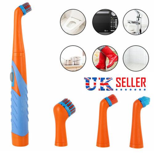 4Heads Super Sonic Scrubber Cleaner Electric Brush House Bathroom Helper Kitchen