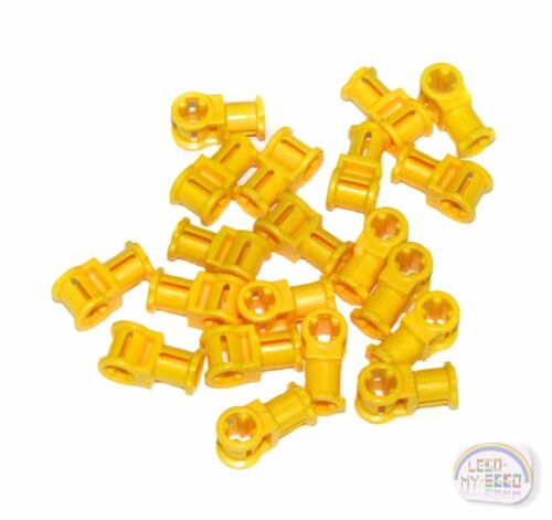 New - Yellow NXT, EV3 LEGO Technic 20 x Perpendicular Axle Connector