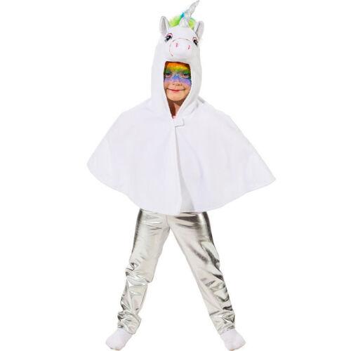 Ein.gr. NEU Kinder-Kostüm Einhorn Cape mit Kapuze