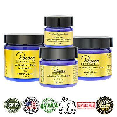 Antioxidant Face Moisturizer with Ester C Vitamin C Face Cream Lotion Men Women