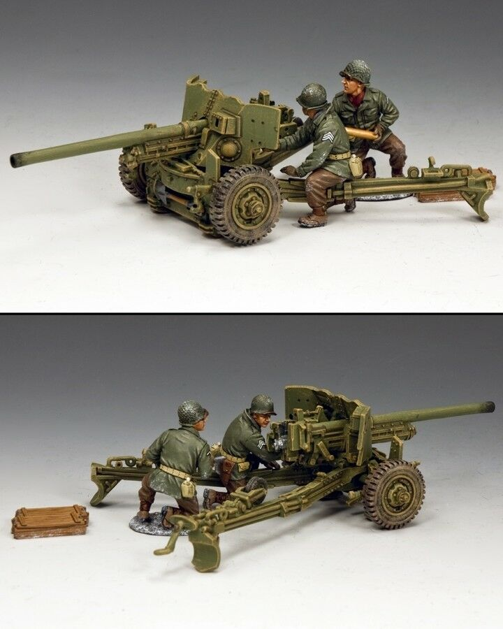 KING AND COUNTRY M1A1 57mm Anti-tank Anti-tank Gun WW2 BBA083