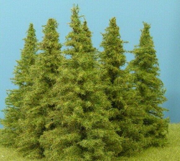 Model Scenery - MO100 - Pack of 6 Larch Trees - 90-110mm Tall