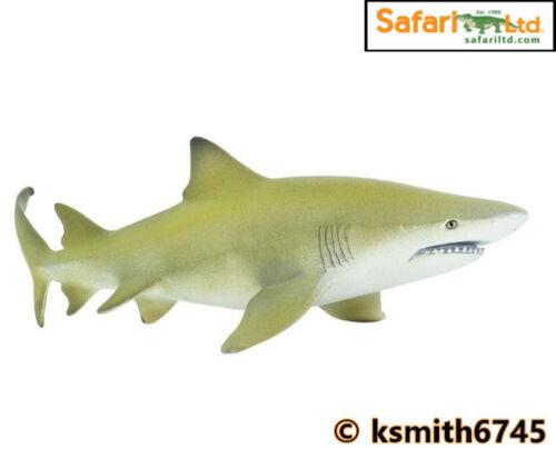Safari requin Citron solide Jouet en plastique Poisson sauvage mer animaux marins * NOUVEAU *