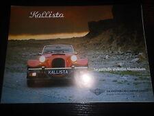 Prospekt Sales Brochure Panther Kallista Technische Daten Preisliste Roadster