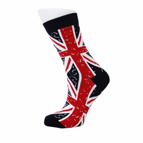 Men/'S VITELLO Union Jack Bandiera Britannica Design Calzini Di Cotone Rich