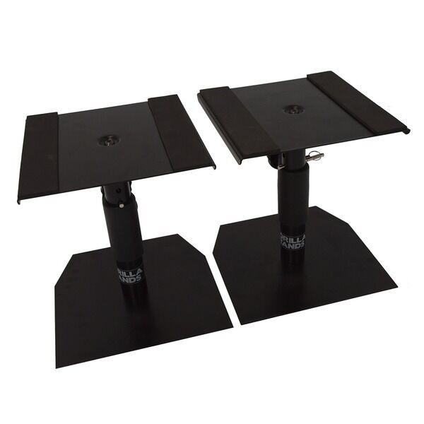 gorilla gsm 50 speaker desktop studio monitor stands table top pair