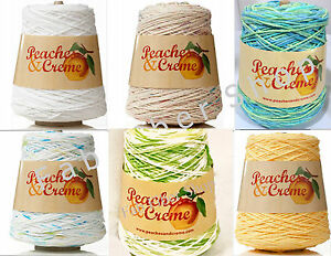 Peaches-amp-Creme-Cream-14-oz-100-Cotton-Cone-Yarn-Your-Color-Choice