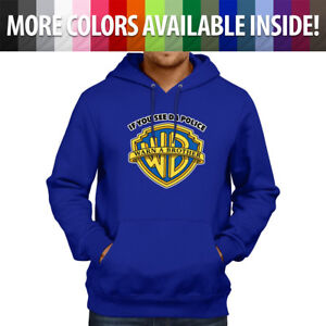 Warn A Brother Police Parody Funny Logo Cool Pullover Sweatshirt