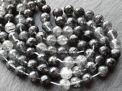 Facetté à la Main Iolite Rondelles,Environ 138cts,6mm 8mm Rondelle Perles,47cm