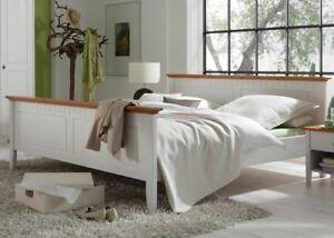 doppelbett hamburg bett ehebett schlafzimmer 180x200 kiefer massiv wei lasiert ebay. Black Bedroom Furniture Sets. Home Design Ideas