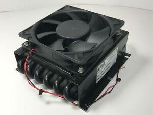 Lytron-Copper-Tube-Fin-Heat-Exchanger-w-24V-DC-Fan-430W-Water-Air-Chiller