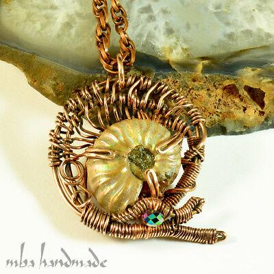 Wire wrapped fossil coral copper cuff bracelet,Gemstone wrapped bracelet,hammered copper cuff,boho cuff,wire wrapped cuff