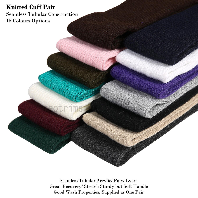 Ribbed Cuffs: Neotrims Knit Rib Cuff Pair,Trim Clothing,Jacket,Coat