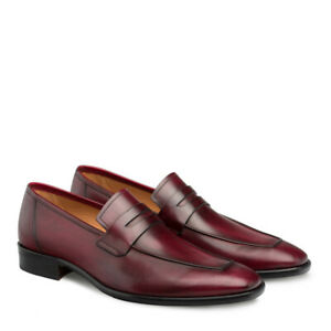 NEW Mezlan Genuine Calfskin Leather Penny Loafer Dress ...
