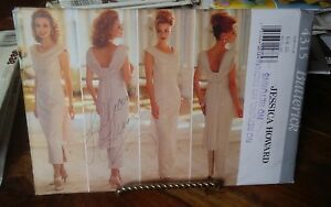 Butterick-Jessica-Howard-4315-misses-evening-gown-draped-neckline-sz-6-10-NEW