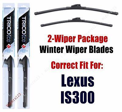 19240//180 Lexus IS200t Wipers 2-Pack Premium Beam Wiper Blades fits 2016