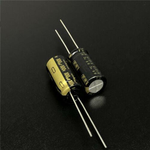 5pcs 100V 100uf 100V Nichicon KW 10X20mm high sound quality Audio capacitor