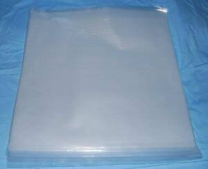 100 7 Quot Plastic Polythene Record Sleeves Covers 450g For