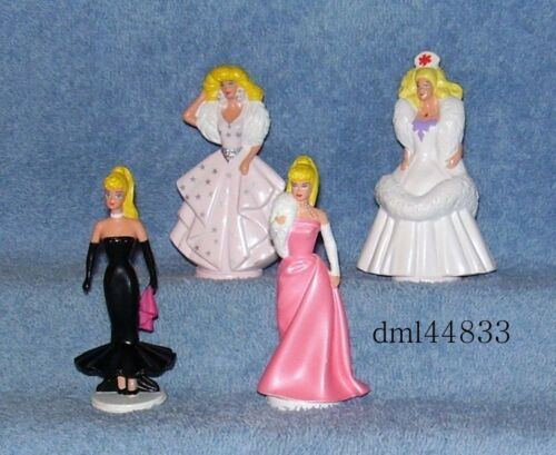 1990 McDonalds Barbie Rare Test Complete Set Lot of 4, Girls, 3+