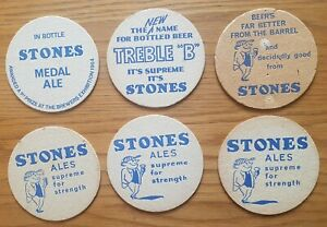 Six-1960-039-s-Stone-Sheffield-Beermats