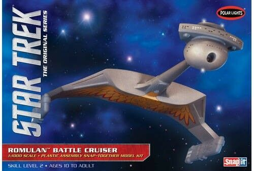 Star Trek Romulan Battle Cruiser 1 1000 Scale Polar Lights Snap Kit