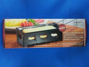 Faltbares Mini-Raclette-Set für 2 Personen mit Teelicht-Betrieb Raclette-Genuss