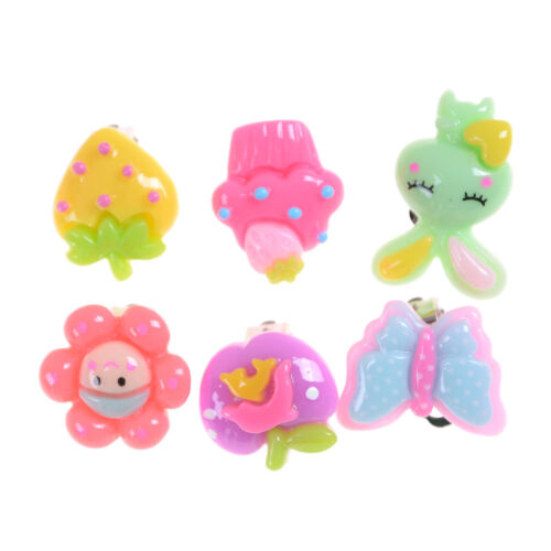 20Pairs Cute Clip-On No Pierced Earrings For Kids Child Girls Christmas Gift JL