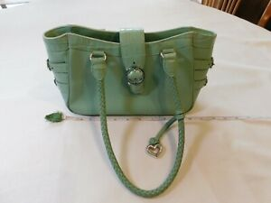 Brighton-Green-purse-braided-straps-handles-shoulder-bag-D142329-leather-womens