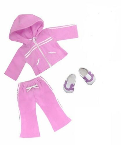 """Doll Clothes 18/"""" Jogging Suit Soccer Set Exercise Outfit Fits 18/"""" AG Dolls"""