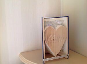 - Cadeau Emballé Plié Livre Maman Dans Cœur Anniversaire Handcrafted Cadeau-afficher Le Titre D'origine